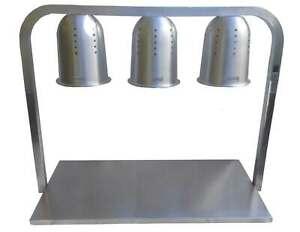 Davlex 3 Lamp Plate Warmer Heated Food Buffet Display Station Carvery Lights