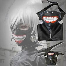 Tokyo Ghoul Kaneki Ken Cosplay Halloween Party Eyes Patch Mouth Mask Props Set