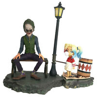 Suicide Squad Joker Harley Quinn Street Light Figure Anime Statue Model