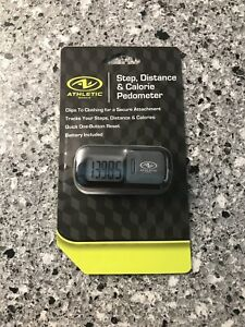 Athletic Works Step, Distance & Calorie Pedometer