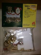 "Vintage Beaded Ornament Kit From Lee Wards ""Santa'S Choo Choo"" Ornament"