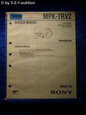 Sony Service Manual MPK TRV2 Marine Pack (#5938)