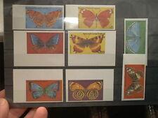 GUINEA - ungezähnt ! 8 Werte geschnitten B -  Schmetterlinge,  Falter, Insekten