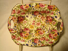 "Royal Winton Summertime Chintz Mayonaise Dish 6 3/4"" long"