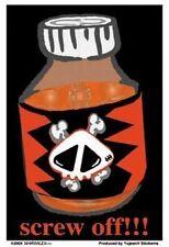 Screw Off! sticker skull punk emo gothic goth
