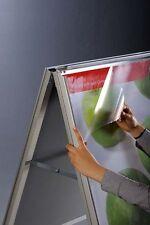 4 x Ersatzfolie für Kundenstopper Werbeaufsteller - DIN B2 (50x70 cm) - NEU