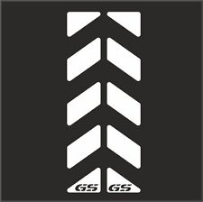 BMW R1200gs 2pcs White Reflective Pannier Back Decal Kit Set Safety Sticker M#3