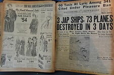 WW2 NEWSPAPER January 9 1943 3 Jap Ships 73 Planes Destroyed In 3 Days BNP NWS