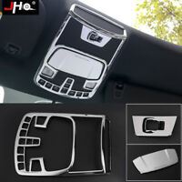 Chrome Accessories Rear Row Armrest Cup Holder Cover Trim For Ford F150 2015-18