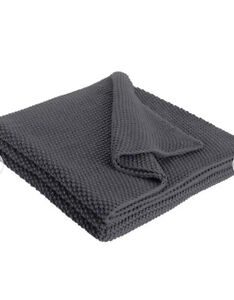 HABITAT Paloma Knitted Cotton Throw 125 x 170cm Charcoal only £28 FREE P&P