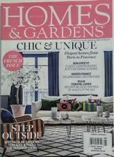 British Homes & Gardens UK Aug 2017 Chic & Unique French Issue FREE SHIPPING sb