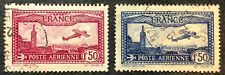 France Airmail Stamps #C5-C6 used 1930-31
