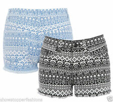 Denim Shorts for Women's Aztec Hot Pants