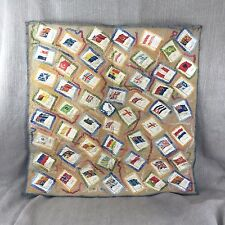 Vintage Embroidery Panel kensitas cigarette silk flag card Flags Collection VTG