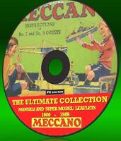 MECCANO Kit ISTRUZIONI MANUALI + VOLANTINI RACCOLTA 06-89 NUOVO PC DVD