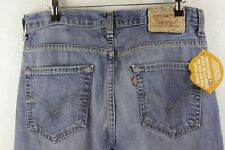 LEVIS 752 Mens Jeans REGULAR STRAIGHT MID BLUE Zip Fly W32 L30 VERY GOOD P77