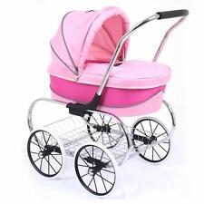 Valco Baby Just Like Mum Deluxe Princess Doll Pram Stroller Hot Pink