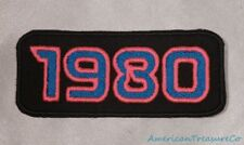 Embroidered Retro Vintage 80s Neon Pink & Blue Patches Full Set of 10 1980-1989