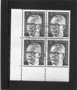 Berlin, Heinemann, Mi.-Nr. 359, Eckrandviererblock, 4er Ecke, ESST Berlin
