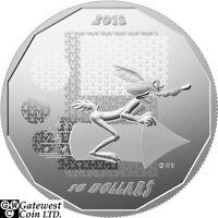 2015 $10 Fine Silver Coin - Looney Tunes (TM);Wile E.Coyote-Super Genius (17452)