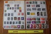 A18 Lot of Spain Stamps on Minkus binder Pages