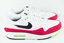 Nike Air Max 1 Mens Size 8 Running Shoes Rush Pink Volt White AH8145 111