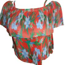 NEW LOOK MULTI TROPICAL DOUBLE CAMI TOP BNWT SIZE UK 8 RRP £15.99
