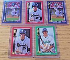 (5) - Card Lot - Mike Trout Rc 2010 Cedar Rapids Kernels #1 #2 #3 Rookie Lot.