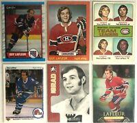 Guy Lafleur 6 Card Lot Montreal Canadiens Upper Deck MVP 73-74 Topps Vintage
