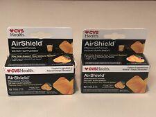 2 Box of  CVS Health Airshield Effervescent 10 Tablets Orange Flavor