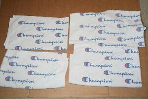 Vintage Champion Brand Script Logo Spellout Sideline Locker Room Towel Lot