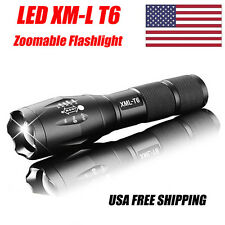 Zoomable Cree XML-T6 3000lm LED 18650 5-Mode Lotus Flashlight Focus Torch Light