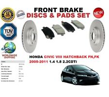 PER HONDA CIVIC VIII FN FK Hatchback 05-11 ANTERIORE DISCO FRENO Set + PASTIGLIE