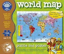 Orchard Toys Educational Games - World Map Puzzle & Poster - New