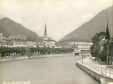 Autriche, Bad Ischl, hôtel Elisabeth et esplanade  Vintage silver print  Tirag