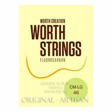 More details for worth clear ukulele strings - soprano & concert low g - double length pack cm-lg