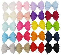 """2.5"""" Small Double Bow Hair Clip Alligator Clip Boutique Style"""