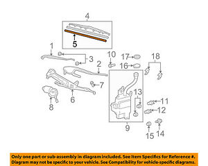 Lexus TOYOTA OEM 00-07 LX470 Wiper-WINDSHIELD-Blade Assembly Refill 852140E020