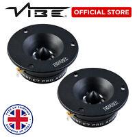 """EDGE 4"""" DB Series 160W Peak Car Pro Audio 80W RMS S4 Bullet Tweeters - Pair"""