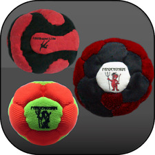 V FOR VOLCANO, VIRUS & VORTEX! 3 great sand & Iron FootBag Master AKi Hacky Sack