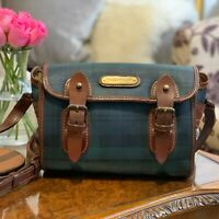 Polo Ralph Lauren Blackwatch Collection Green Tartan Crossbody Bag, Very Rare