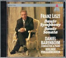 Daniel BARENBOIM: LISZT Dante Symphony Sonata CD Berliner Philharmoniker TELDEC