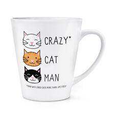 fou chat homme 341ml Latte Tasse - Drôle Chaton