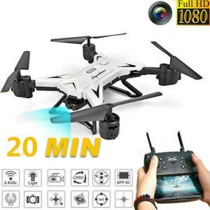 Drone avec Camera 5MP 1080P HD 2.4G-WiFi Pliable FPV Quadcopter Batterie Inclus