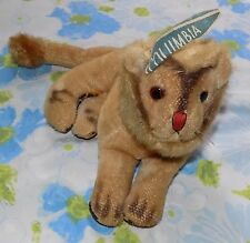 "VTG Antique 9"" long Columbia University Lion Mascot Plush Pennant on Ear"