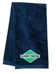 Illinois Central Logo Embroidered Hand Towel 100% USA cotton terry velour