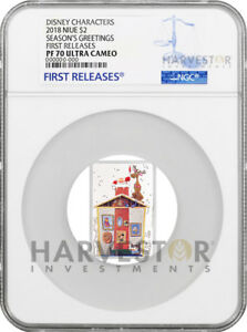 2018 DISNEY SEASON'S GREETINGS CLASSIC - MICKEY MOUSE - NGC PF70 FIRST RELEASES
