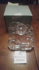 Nib Partylite 24% Lead Crystal Castle P7170 Tier Candle Holder Complete in Box