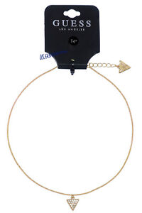GUESS Kette Necklace Halskette Anhänger Dainty Neck Gold Strass Beauty