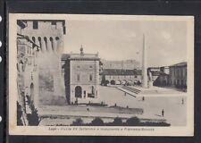 Cartolina Lugo Piazza XX Settembre e Monumento a Francesco Baracca HF4